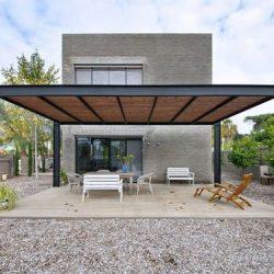 Estrutura metálica de quintal