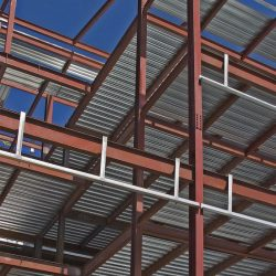 Estrutura metálica e cobertura metálica