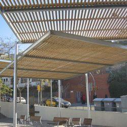 Estrutura pergolado aço galvanizado