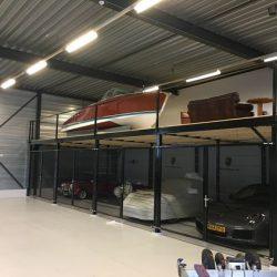 Galpão metálico garagem e mezanino
