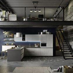 Mezanino moderno e minimalista