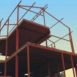 Monstagem casa estrutura metálica
