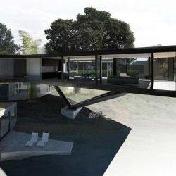 Projeto de estrutura metalica com desing moderno e contemporâneo