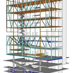 Projeto metálico estrutural de um edifício