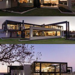 Residência alto padrão com construção metálica