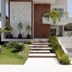 Residência alto padrão com paisagismo e acabamento 3D