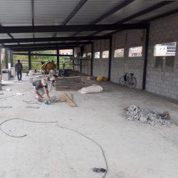 6 - 2 pav instalado com laje de concreto fazendo as vedações