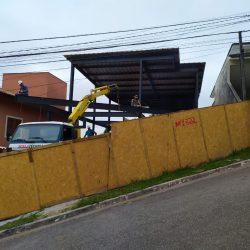 6 - fachada em balanço com laje de concreto