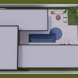 5 - vista superior da estrutura modular residencial em salto