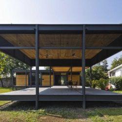 Casa sustentável metalica