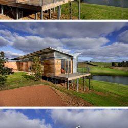 Telhado borboleta residencia