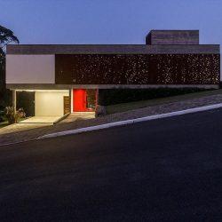 aço corten residencia fachada