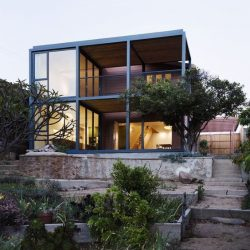 estrutura metalica casa contemporanea