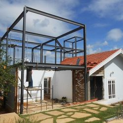 estrutura residencial metalica