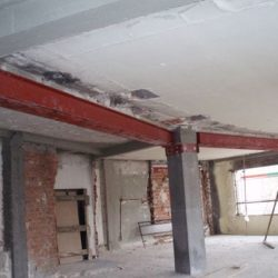 reforço estrutural metalico edificio