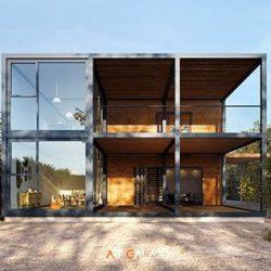 valorização de design estrutura metalica